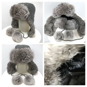🌟Beautiful SURELL 100% Fur Trapper Hat NWOT